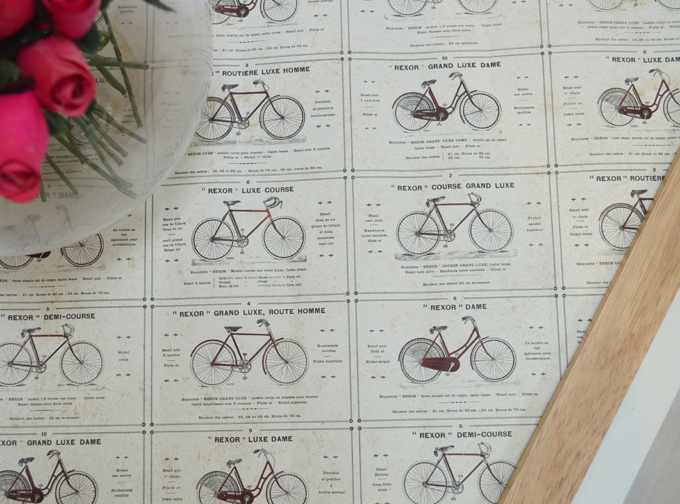 HOW TO CREATE YOUR OWN RETRO BICYCLE WALL ART
