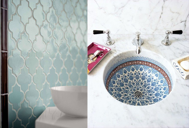 Inspiration moroccan bathrooms apartment number 4 for Moroccan style bathroom accessories