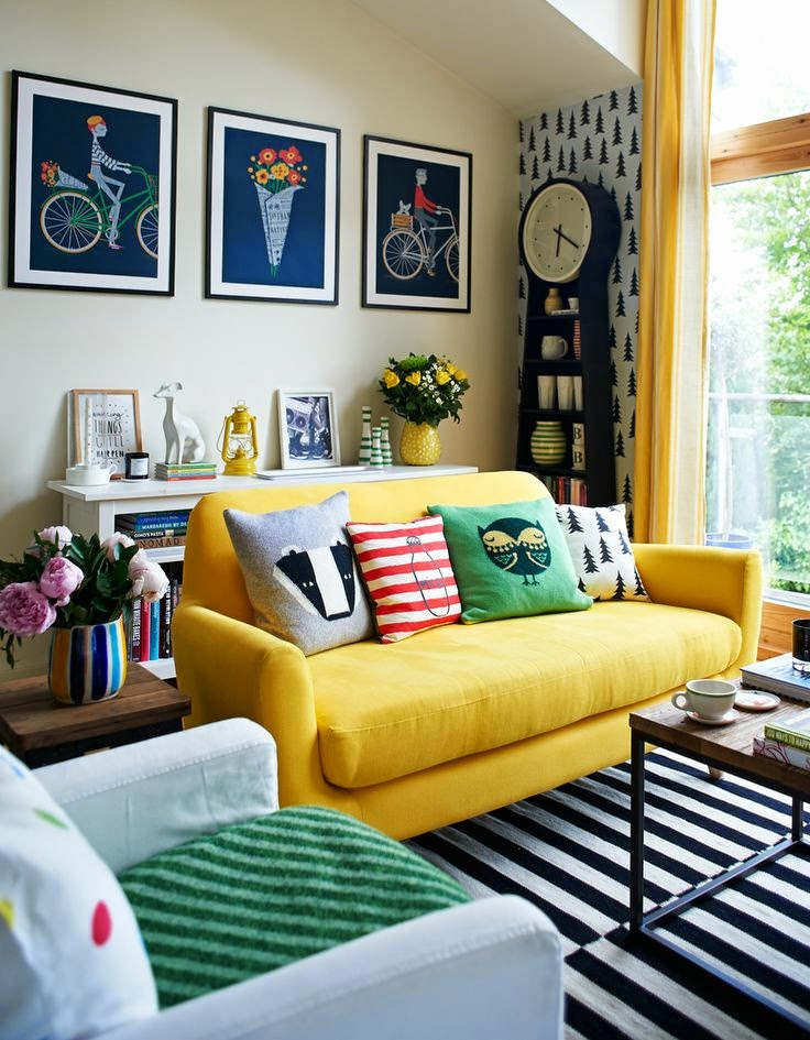 BRIGHT AND BOLD SOFA INSPIRATION