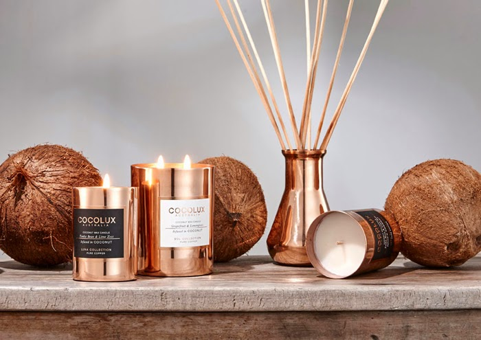 COPPER AND COCOLUX CANDLES