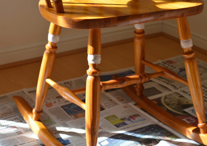 UPCYCLING AN ANTIQUE ROCKING CHAIR