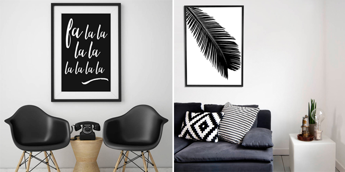 Oversized Black And White Wall Art Ideas Apartment Number 4