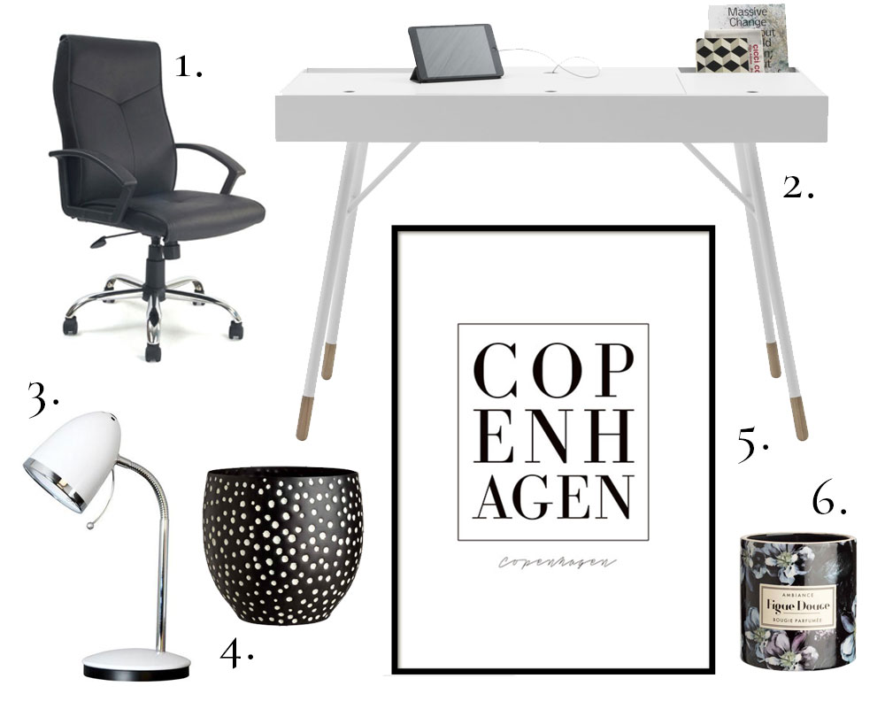 Monochrome Scandinavian Office Interior Design Ideas