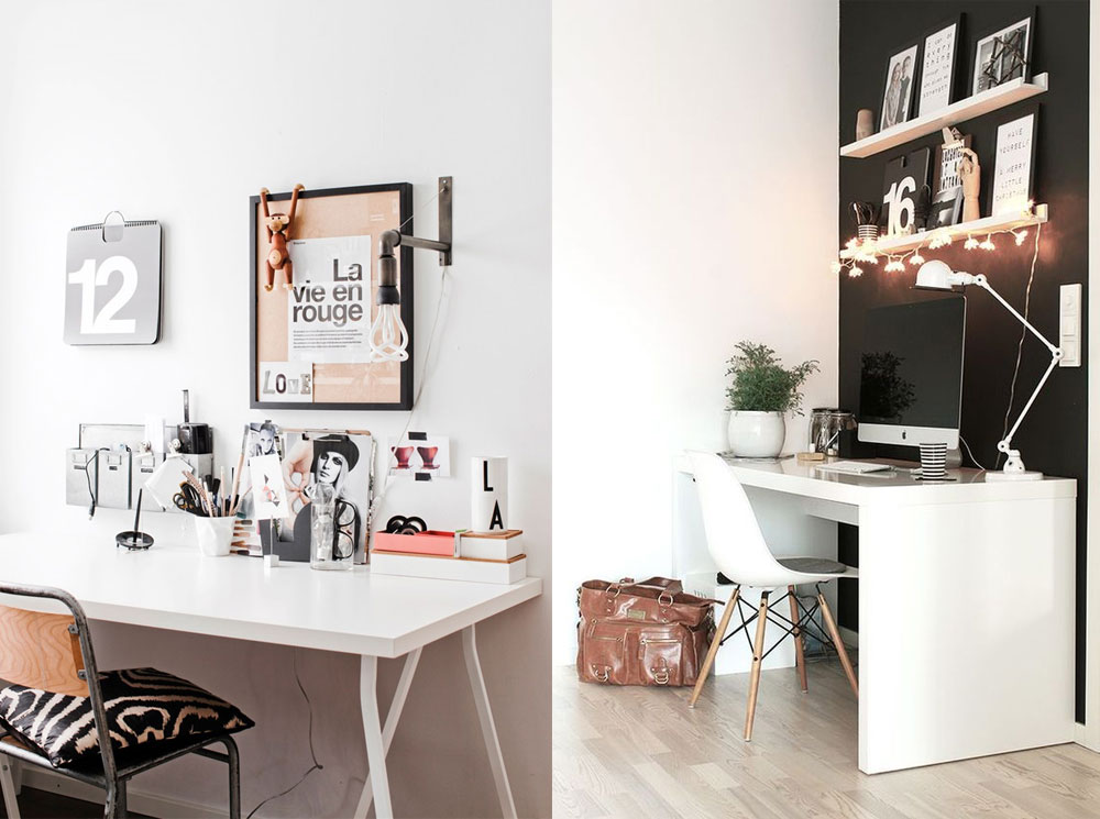 Monochrome Black And White Scandinavian Office Decor Inspiration ...