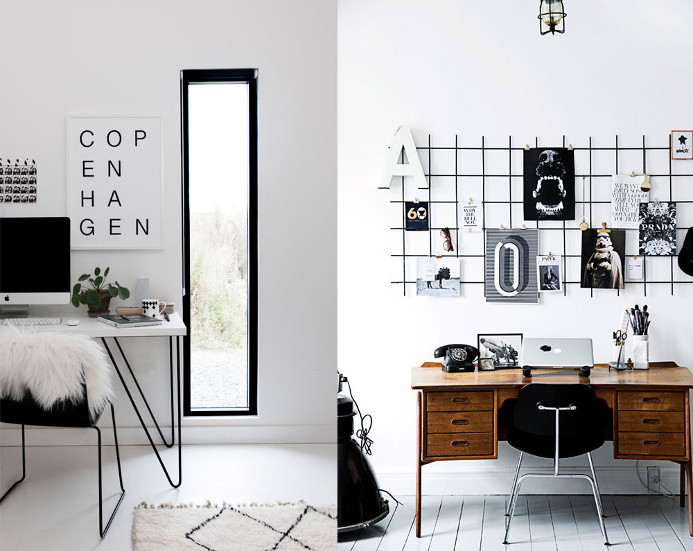 Delicieux ... Monochrome Black And White Scandinavian Office Decor Inspiration