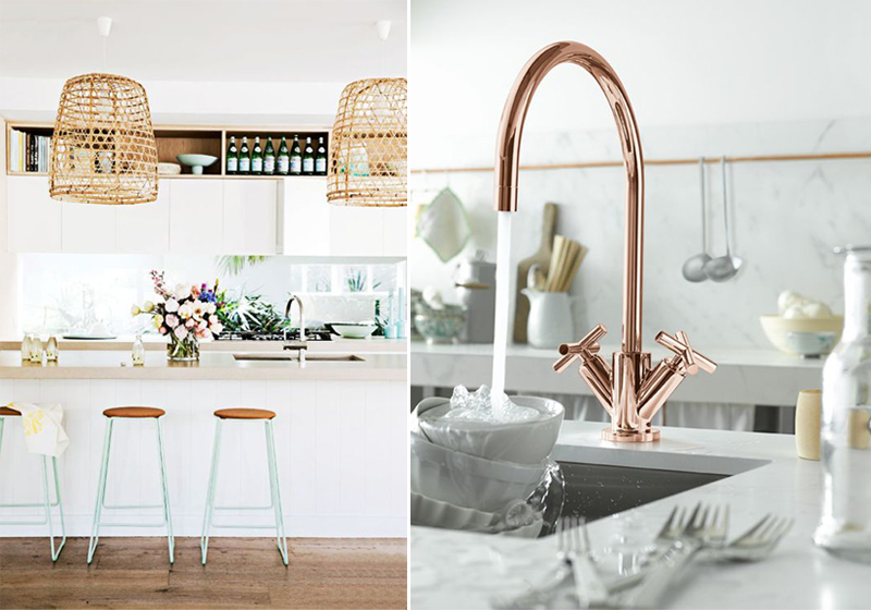 Mint White And Gold Kitchen Decor Inspiration