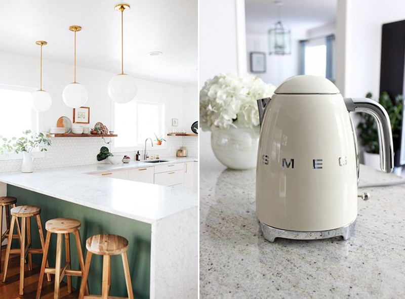 Mint White And Gold Kitchen Inspiration Apartment Number 4