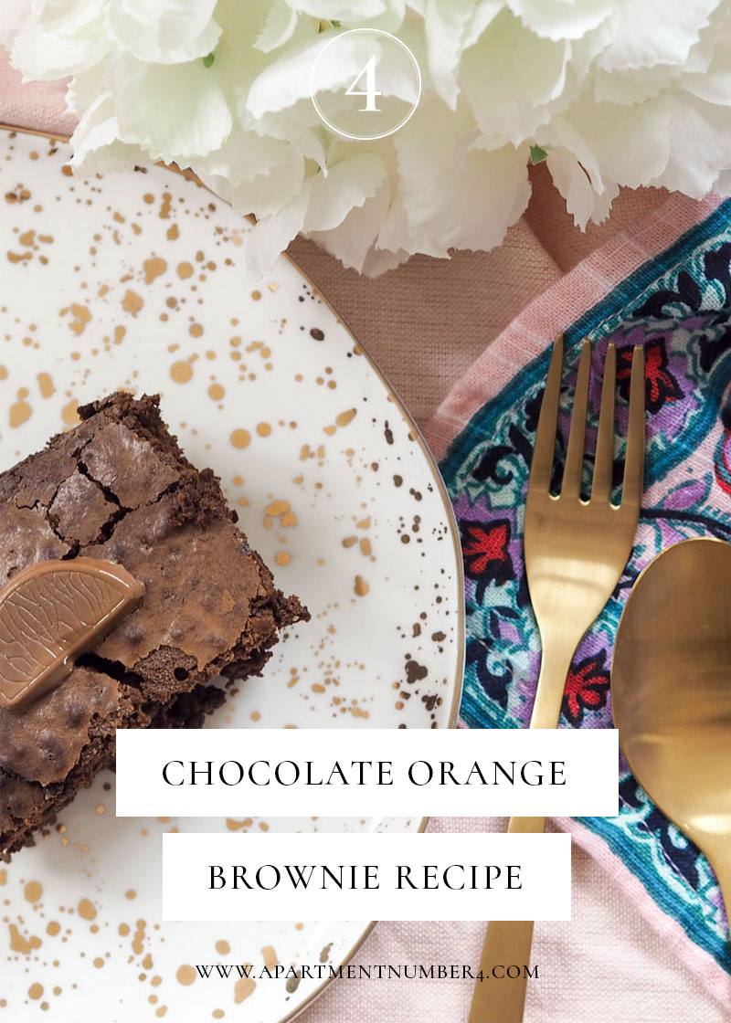 Terry's Chocolate Orange Brownies are the perfect Christmas baking recipe - gooey but not too gooey, and delicious with a Baileys.