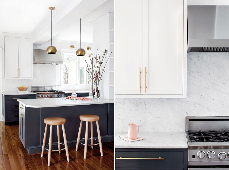 BLUE, WHITE AND MARBLE KITCHEN INSPIRATION