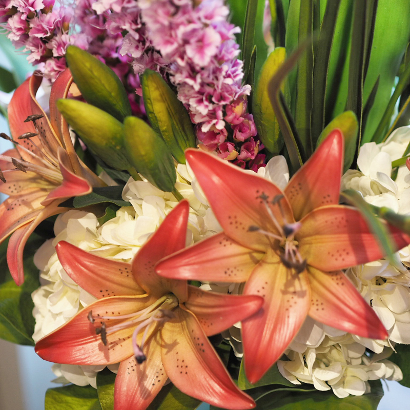 Beautiful lilies and flowers