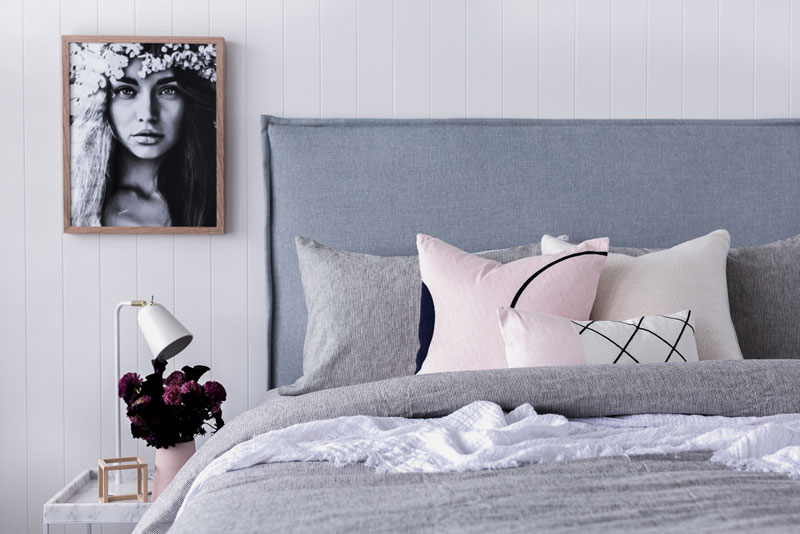 Interior stylist Claire Wainwright shares 3 easy interior styling tips to create a stylish home, from plumping cushions to dressing the bed.