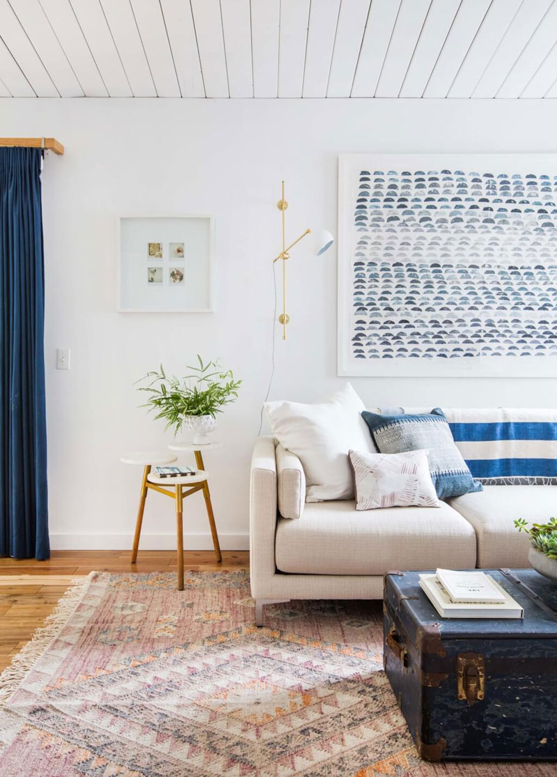 Blue white wooden interior inspiration apartment number 4 for Modern photography for sale