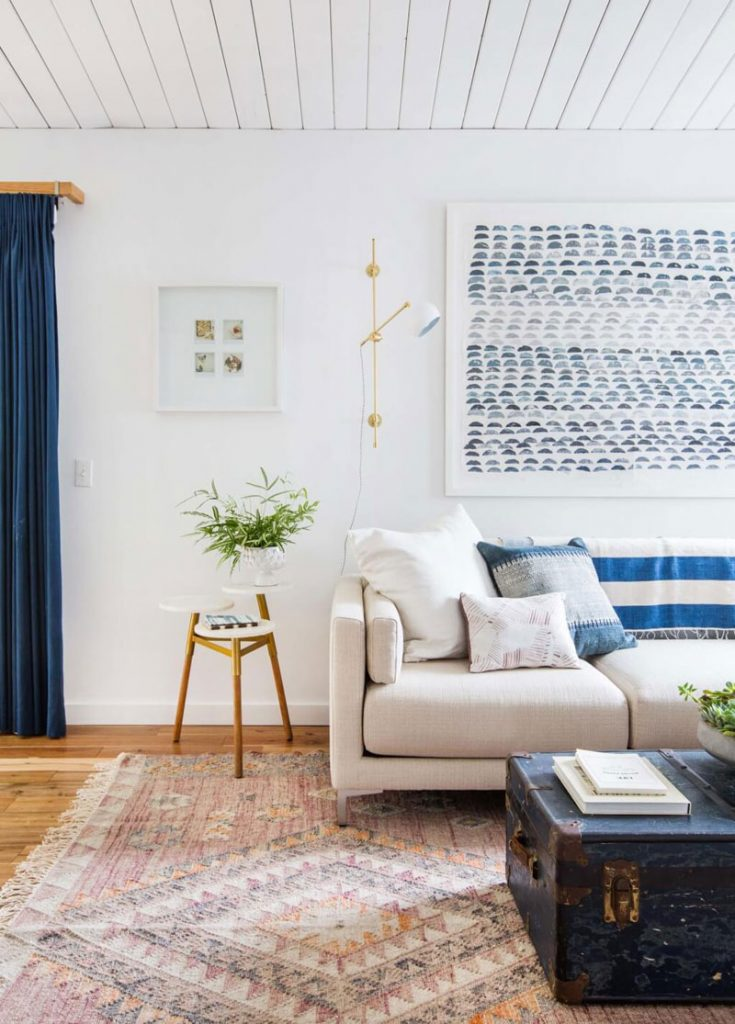 Blue white wooden interior inspiration apartment number 4 for Interior inspiration
