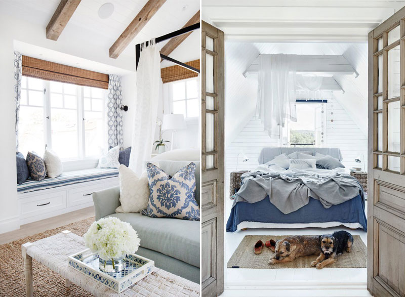Blue, White & Wooden Interior Inspiration