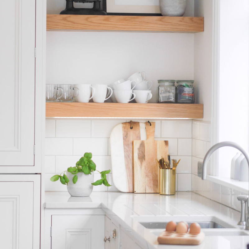 Kitchen shelf styling ideas