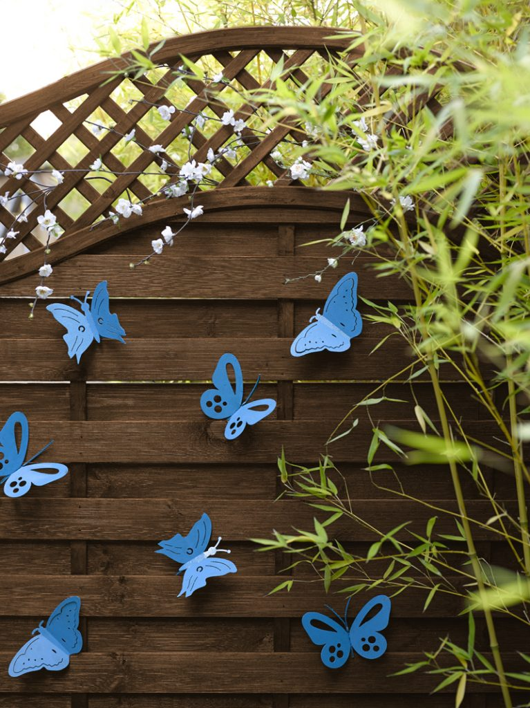 Butterfly fence decorations