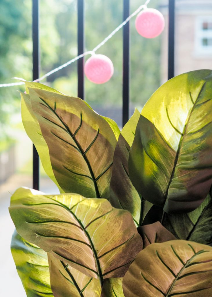 Faux plants for indoor garden