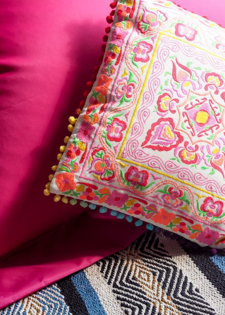 Embroidered cushion from Sweetpea and Willow