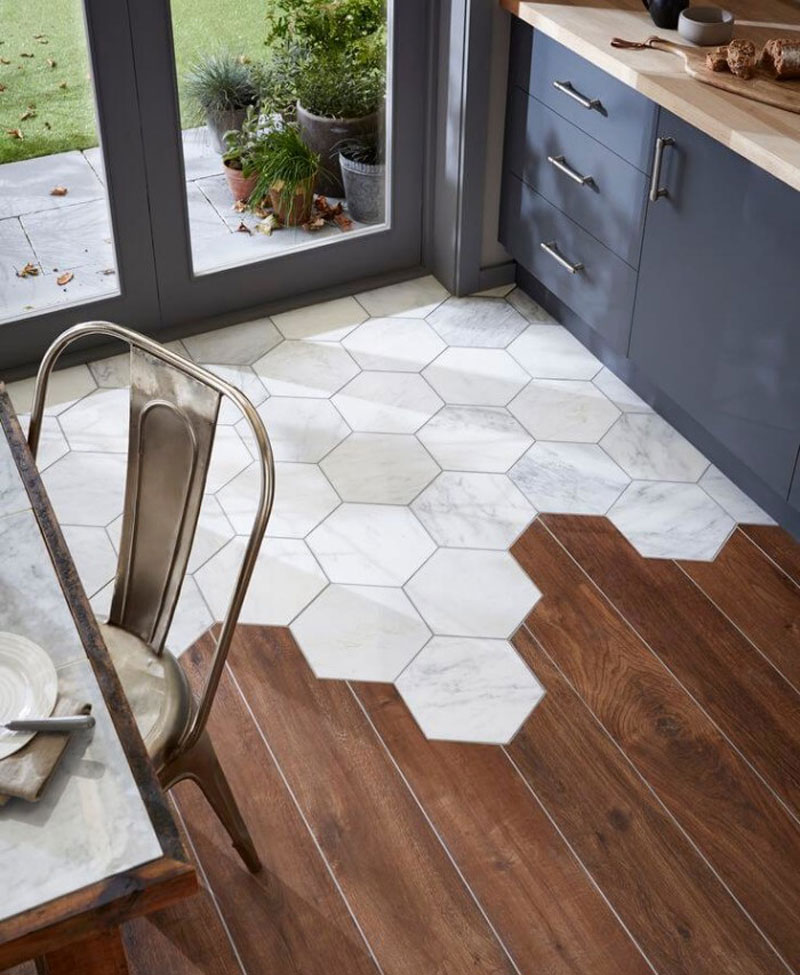 honeycomb flooring tiles for kitchen