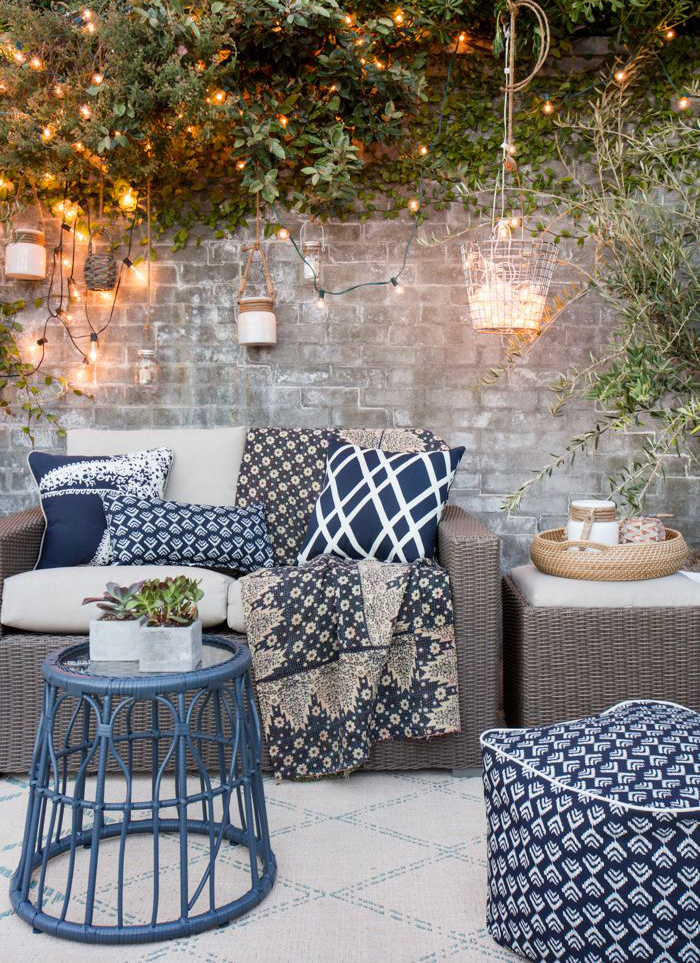 Today I'm sharing how to create an outdoor entertaining space, regardless of how much room you have in your garden.