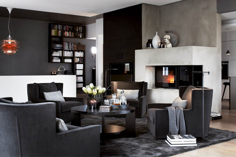 From dark walls to rich textures & clean lines, we show you how to decorate your bachelor pad with a mix of masculine interior inspiration.