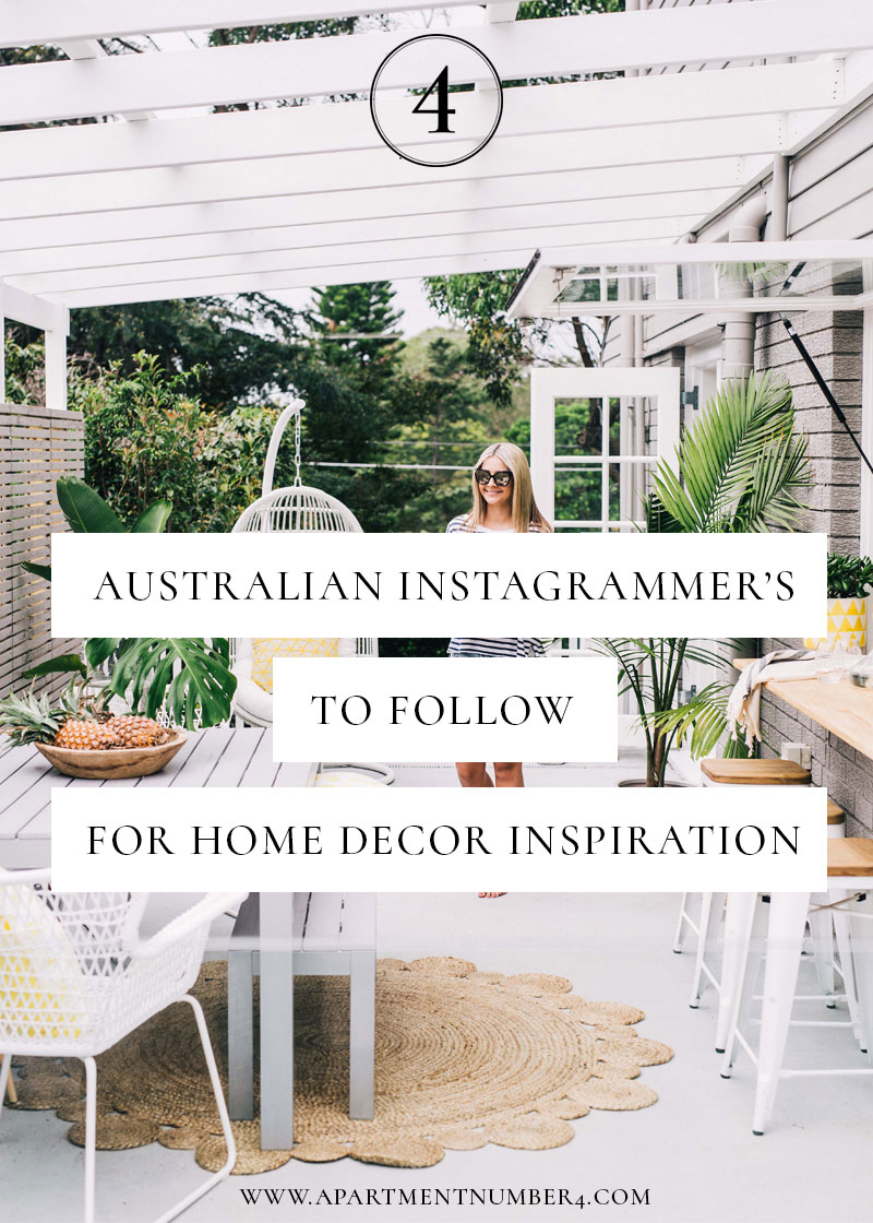 Australian instagrams to follow for interior inspo for Best home decor instagrams to follow