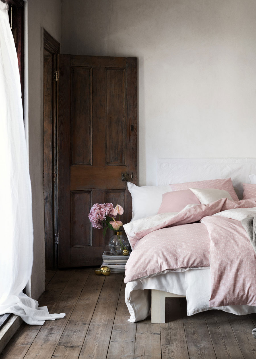 H&M Home Pink Linen Bedding