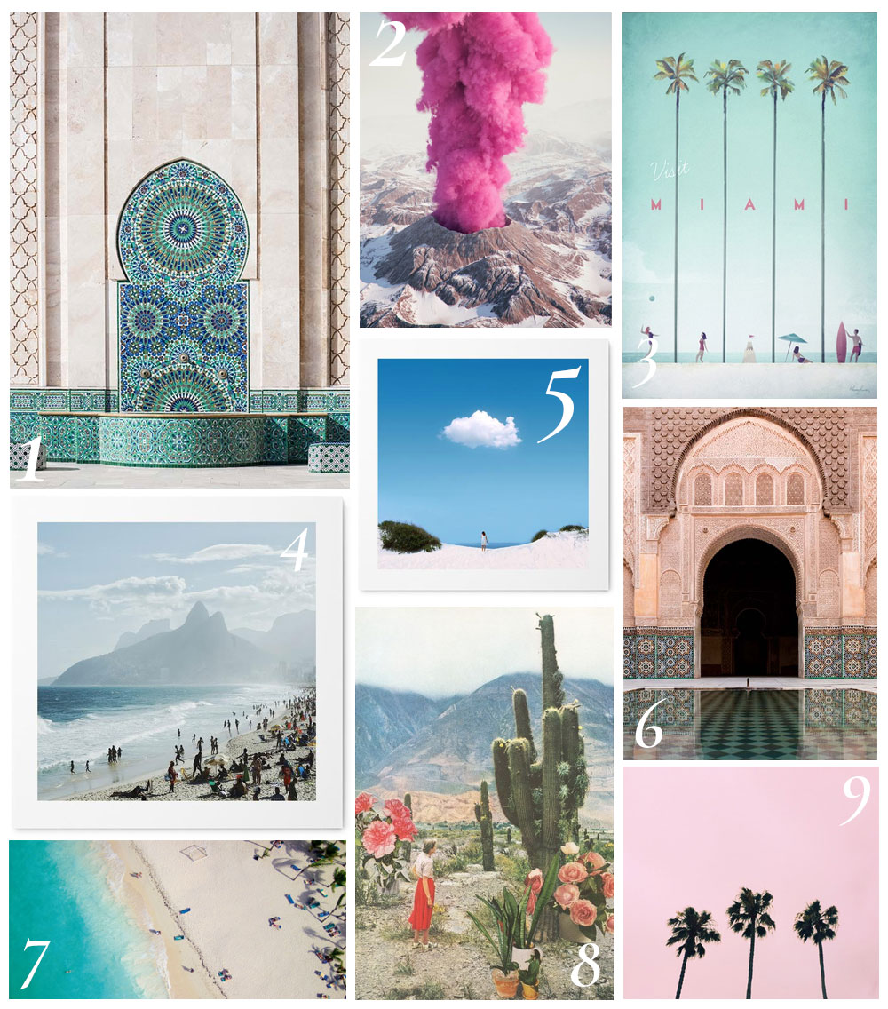 Buying wall art can be a minefield, especially if you're unsure of what works together. Today we share 16 wall art ideas for travel lovers.