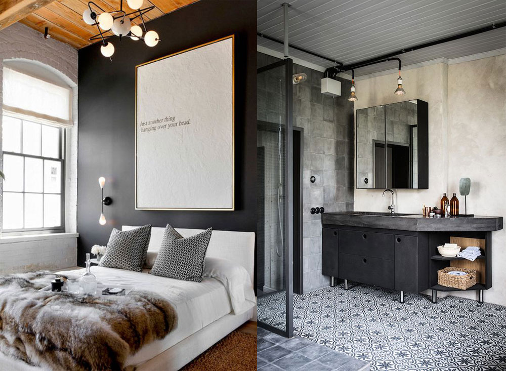 Industrial inspired interior design