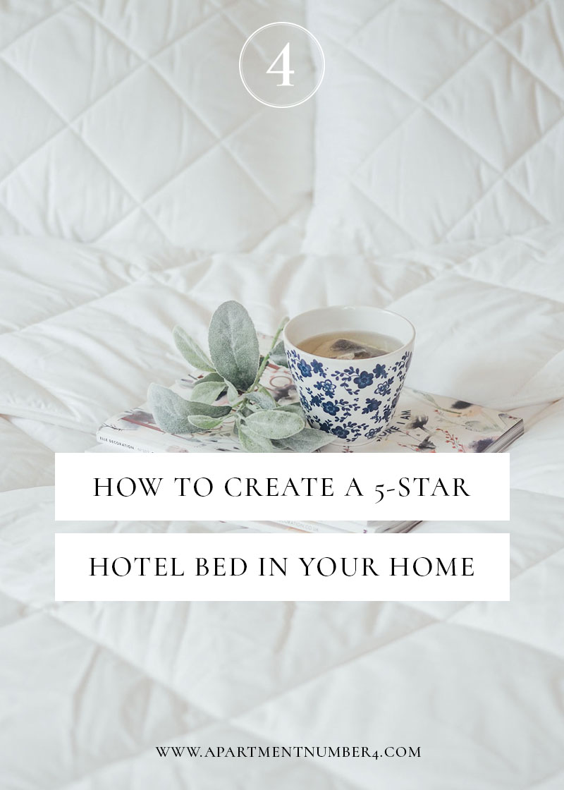 How to create a 5 star hotel bed at home