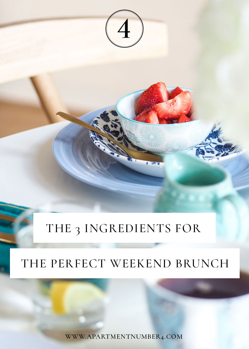 Here are three key ingredients you need for the perfect weekend brunch, from a mix-and-match dining to using those 30 minutes for self-care and relaxation.