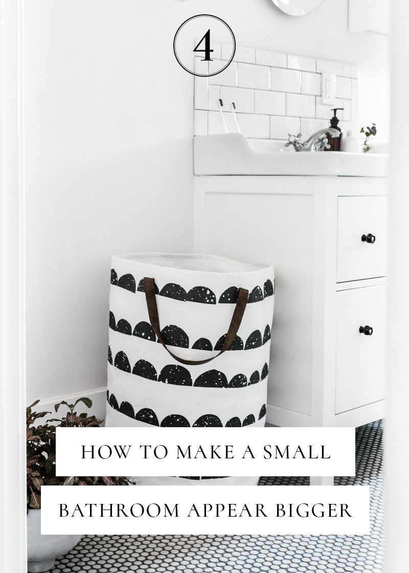 Today I'm sharing three tips on how to unclutter your small bathroom with space-saving tips, making the room look bigger. Click through to read more...