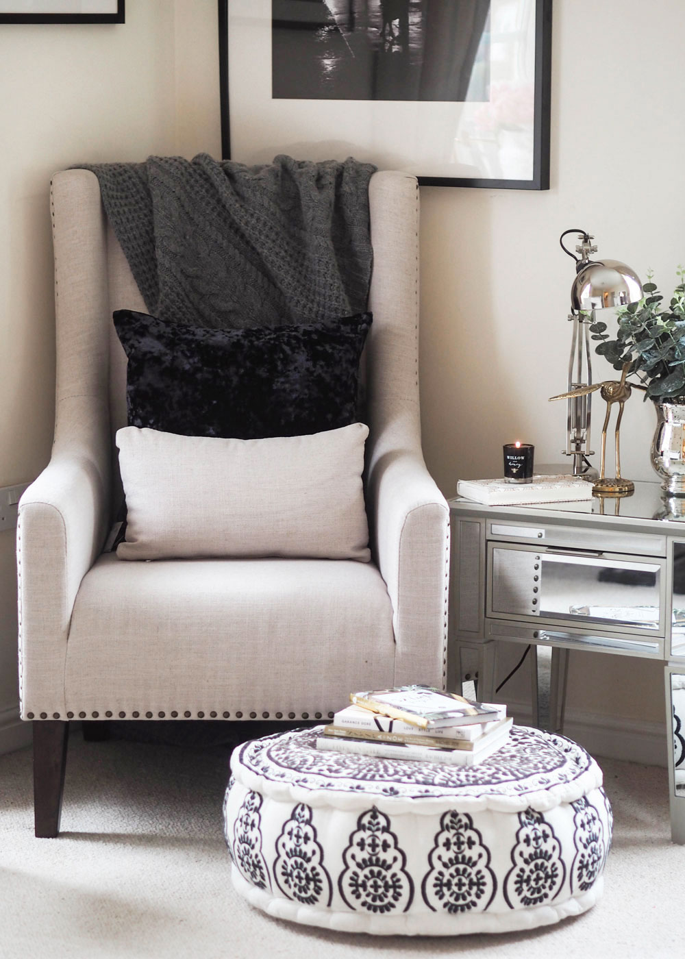 Three elements you need to style a reading nook this autumn, where you can curl up with a good book and steaming mug of hot chocolate.