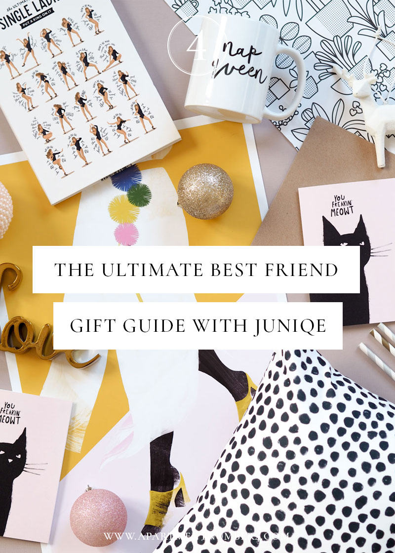 Today I'm sharing my experience of how friendships have changed in my thirties, and I'm sharing some top best friend gift ideas from Juniqe.