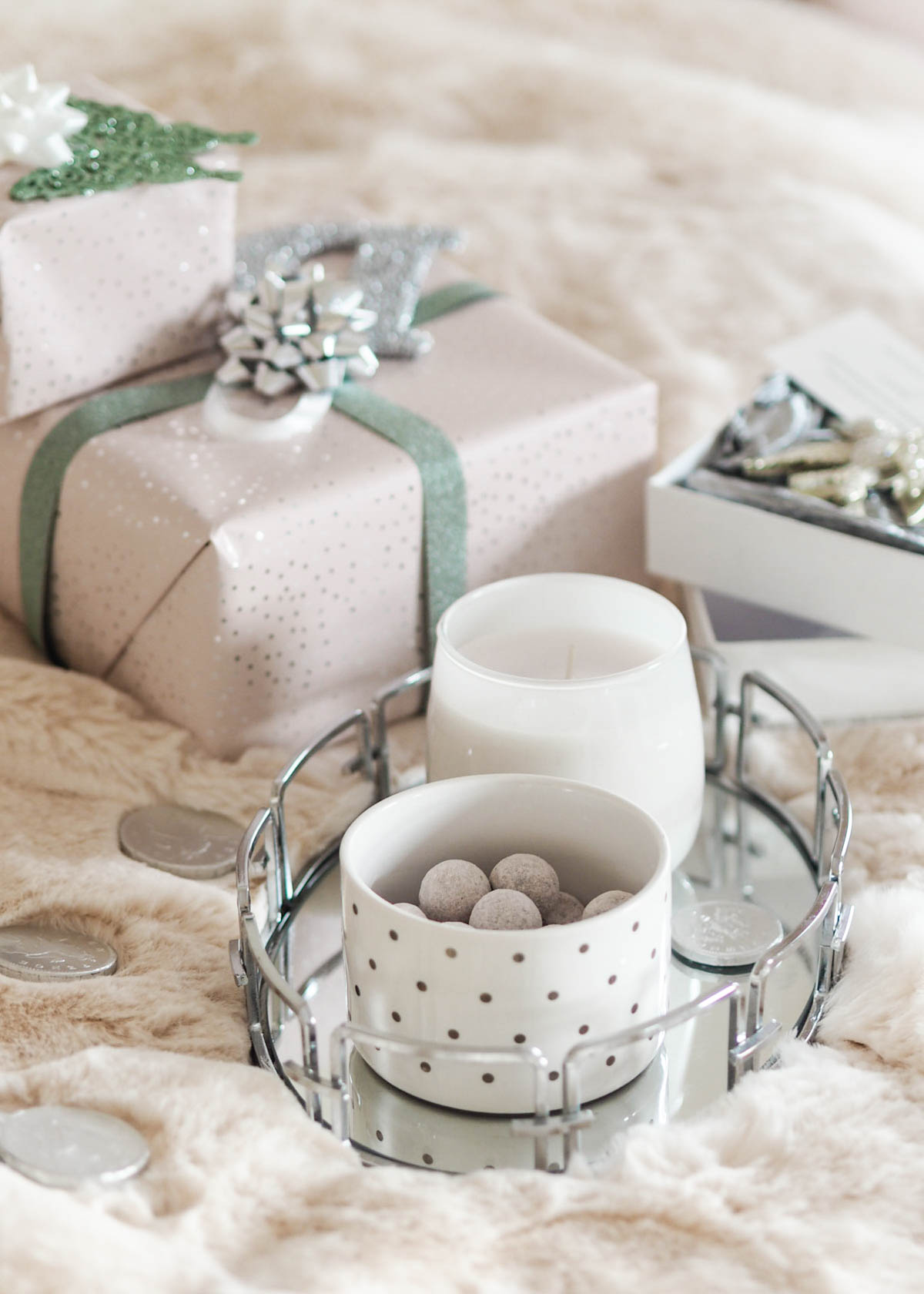 How to style your house with Amara's Winter Blush Christmas collection including pastel decorations, luxe Christmas trees & velvet stockings. Read on to discover more.