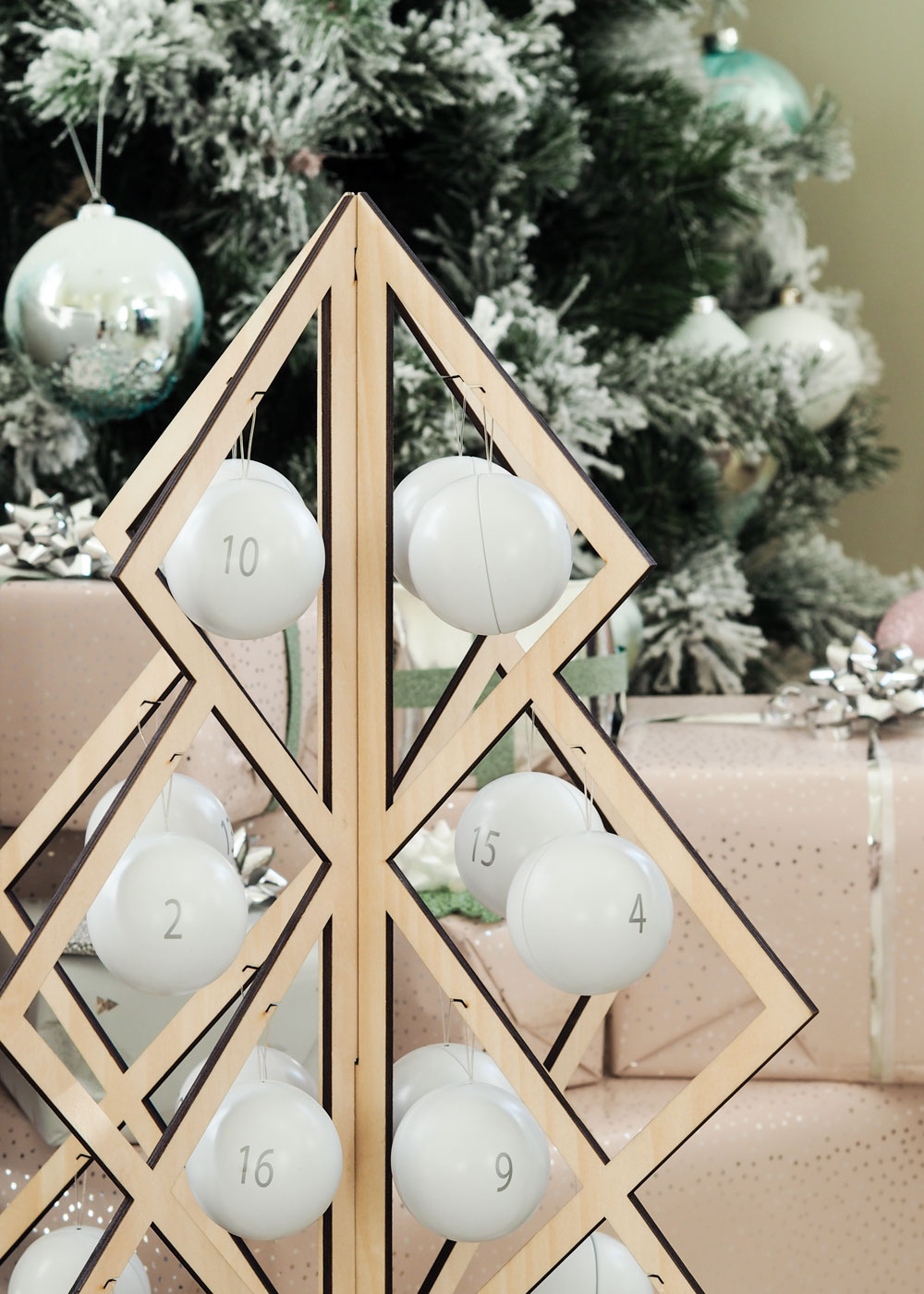 Today I'm sharing this be & liv Scandinavian Christmas wooden advent calendar which you can fill with chocolate each & every year.