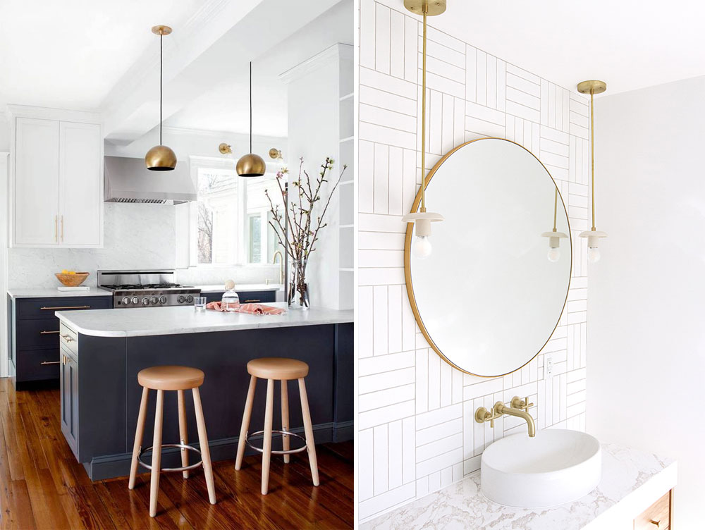 Updating your lighting can make such a difference to the look of a rented property. Here I'm sharing 9 of the best gold pendants to buy now.