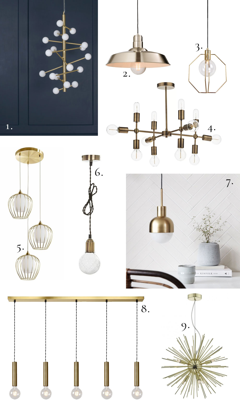 9 Of The Best Gold Pendant Lights To Buy Now Apartment
