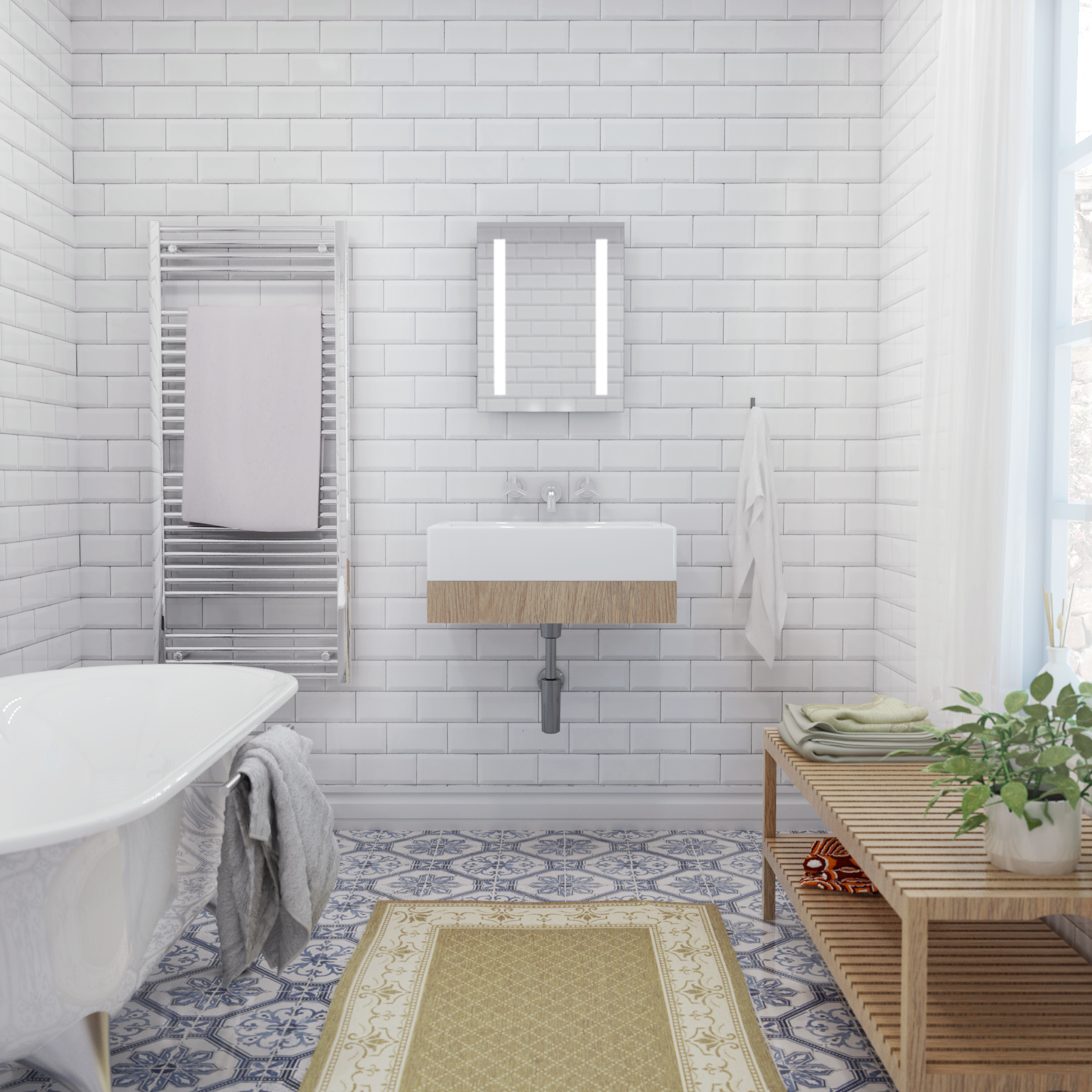 How To Add Style To A Rental Bathroom - Apartment Number 4