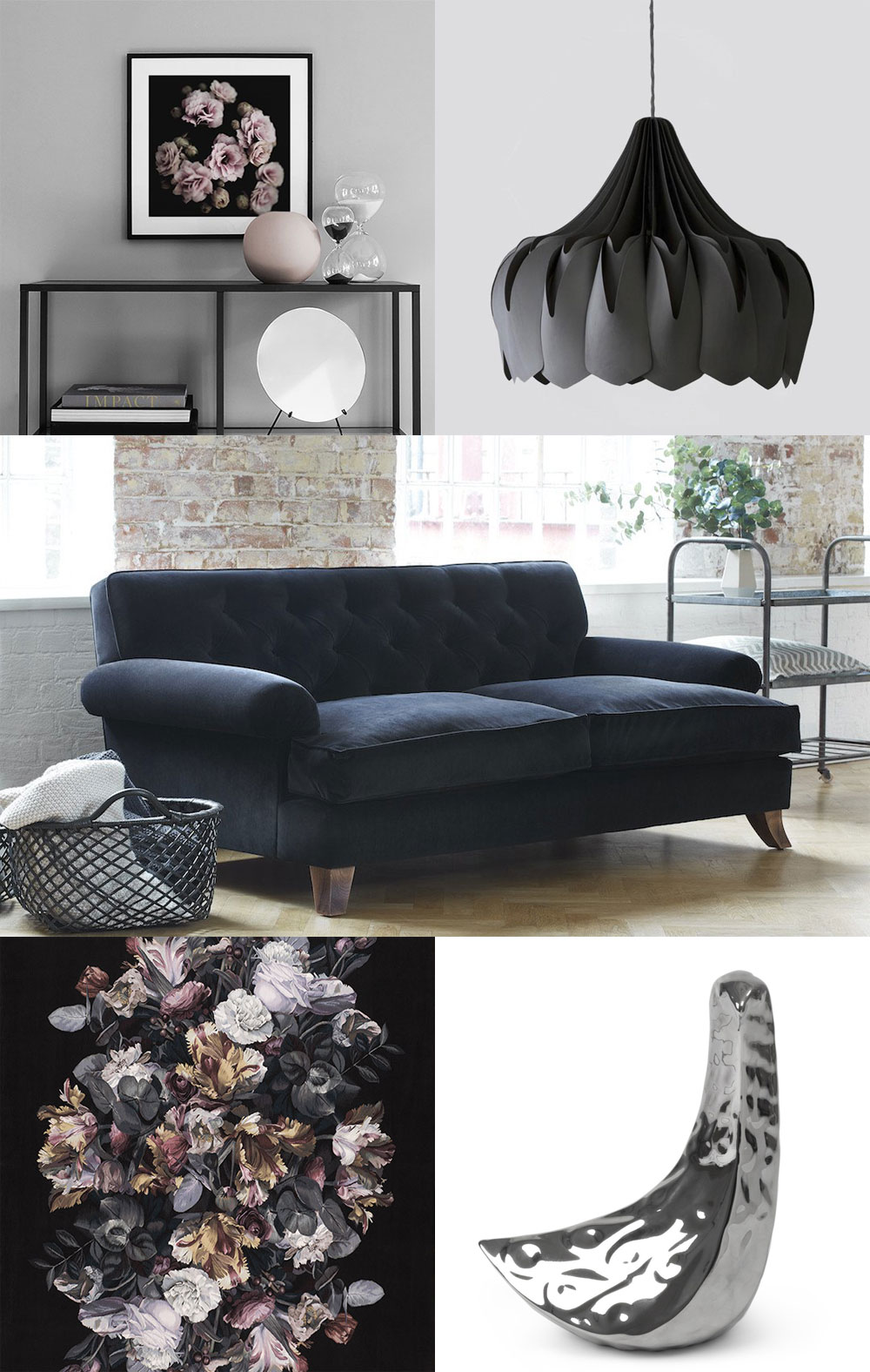 How to style your sofa 4 different ways in partnership with Darlings of Chelsea, from luxe black velvet to modern modular designs.