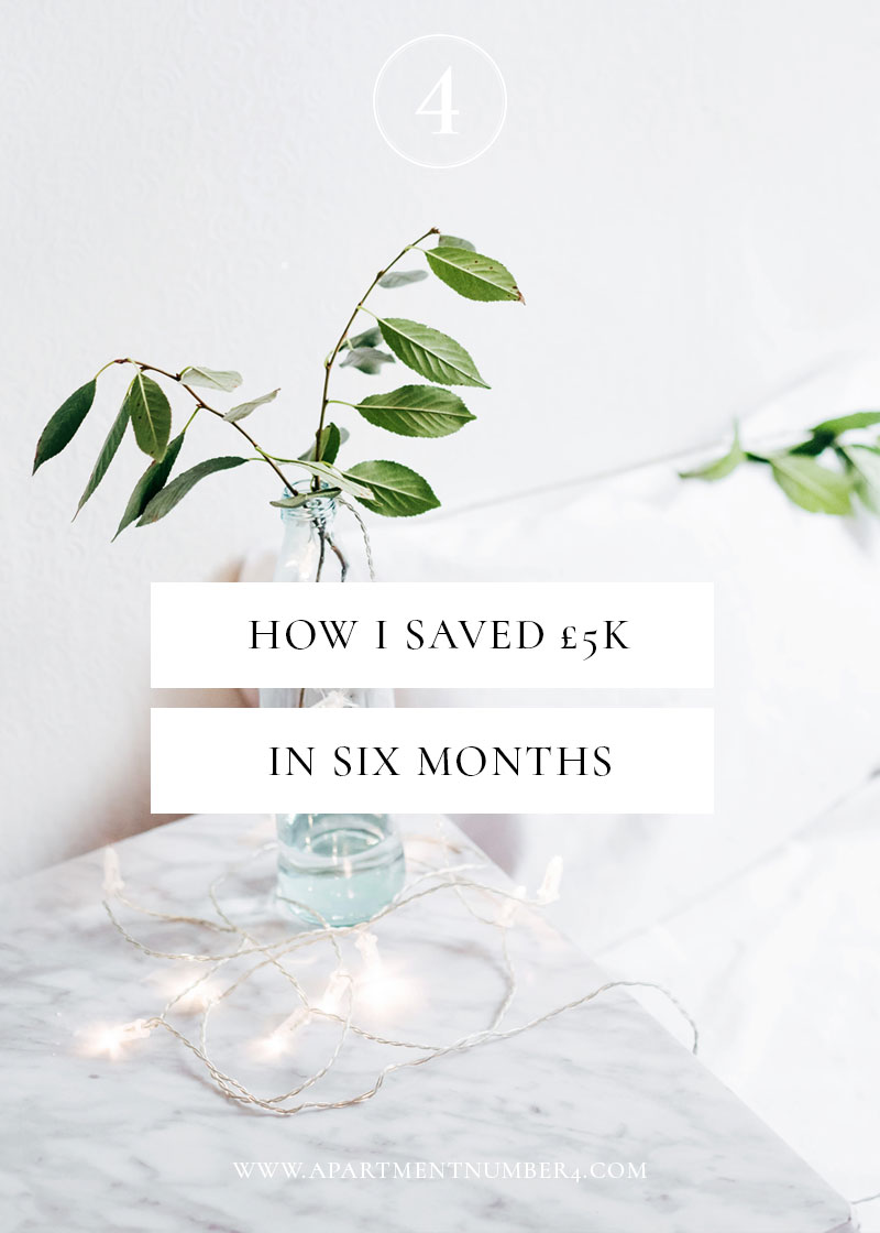 Today I wanted to share with you how to save money every month and how I saved £5,000 in only six months, paying off credit card debt and ultimately saving for a house deposit. Read on to discover more.