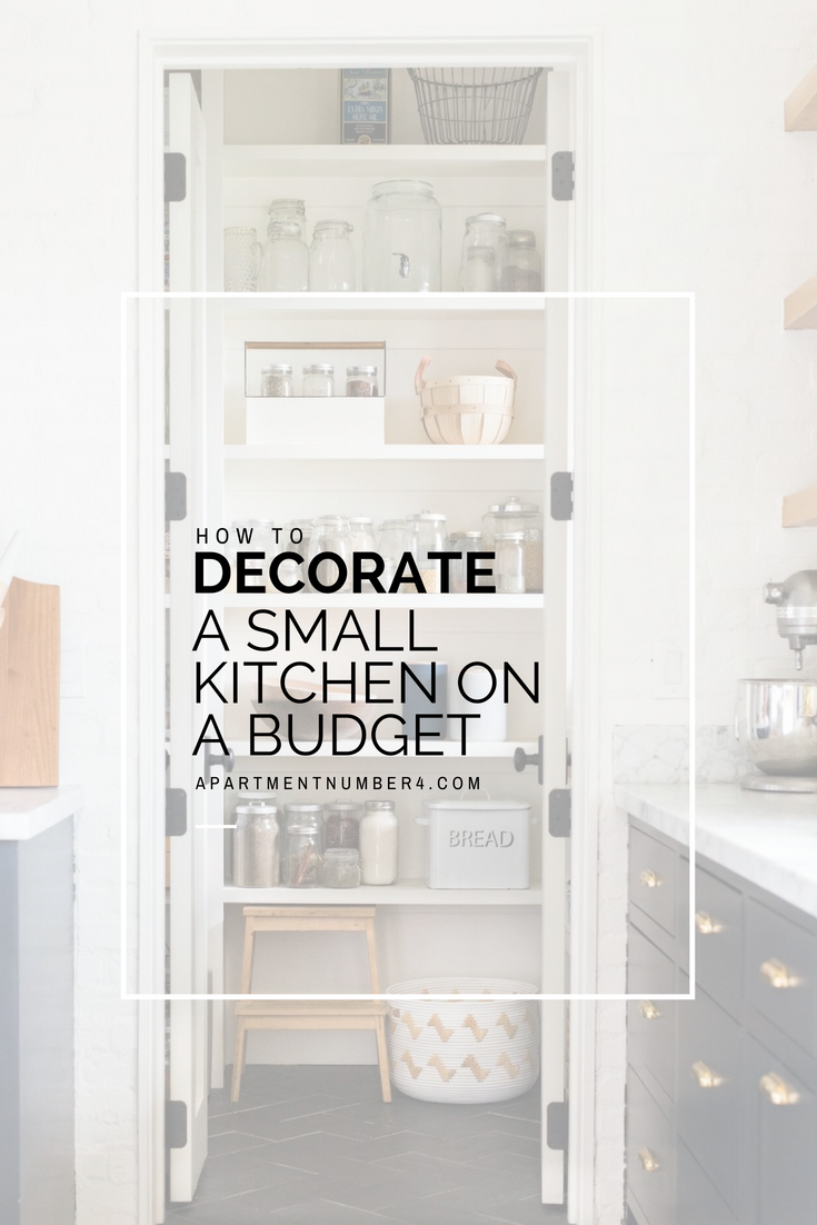 Today I'm sharing  ideas on how to decorate a small kitchen on a budget, from storage ideas to lighting, layout, design and organization.