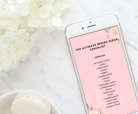 Get your FREE Ultimate Spring Clean Checklist just in time for the new season. By cleaning and organising your home, you can declutter your mind and motivate yourself for spring. Click through to grab it today.