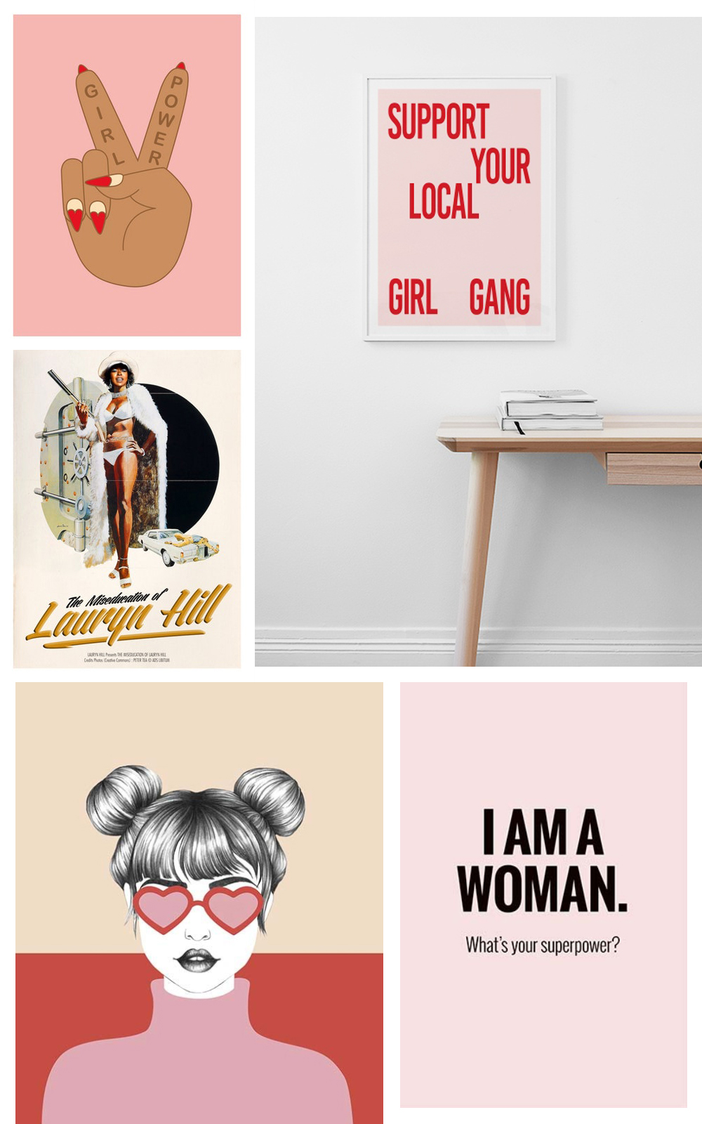 From a gallery wall to the perfect shelfie, create an inspiring office with these girl power and girl boss prints, ranging from £6 to £35. Shop your favourite now.
