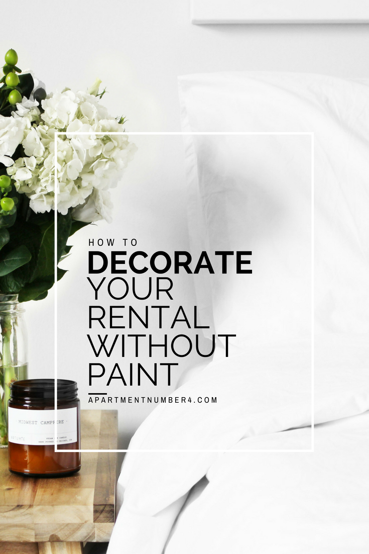 How to decorate your rental without painting is one of my most asked questions, so today I'm sharing 10 tips on how to decorate a rented home with white walls.