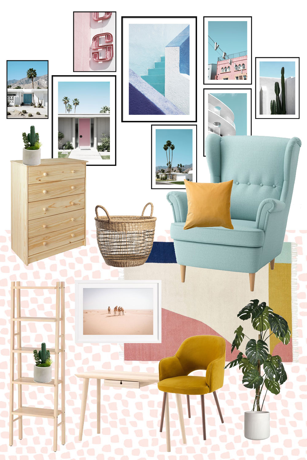 Check out my home office makeover moodboard and see how I'll be turning my spare room into a creative space to run my interior design blog full-time.