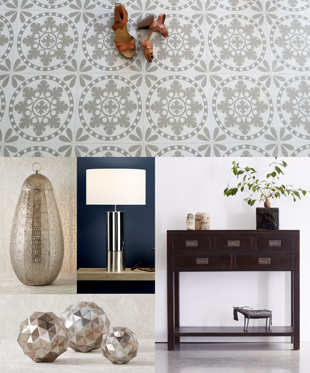 Today I'm share five ways to style vinyl floor tiles, as well as showcasing the latest collection from homeware brand Zazous.