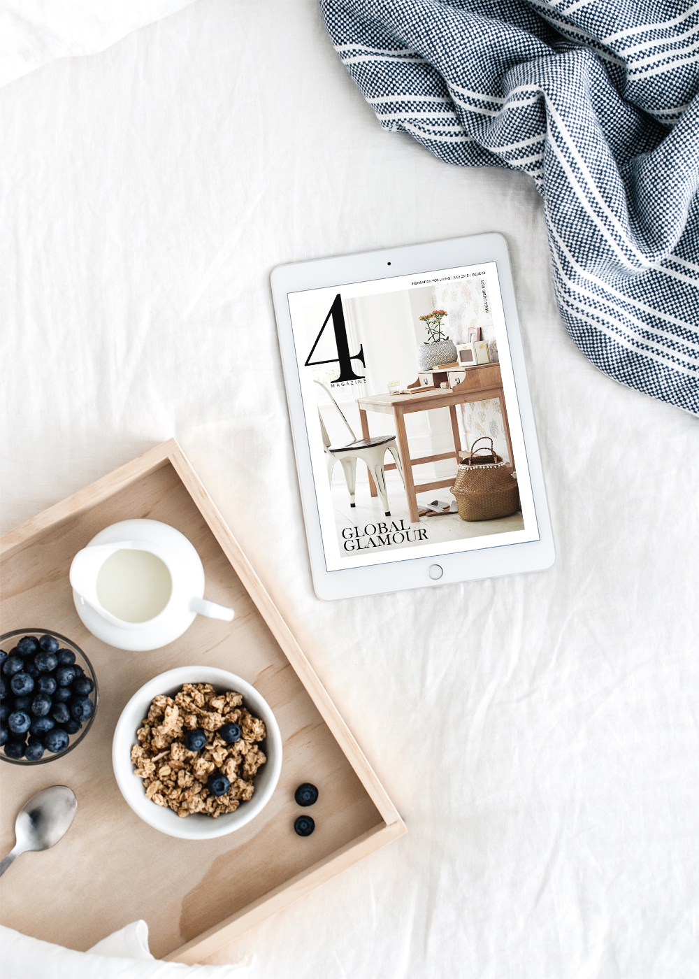 4 Magazine is a monthly interior design magazine where every product featured is directly shoppable from the page. Grab the July issue now.