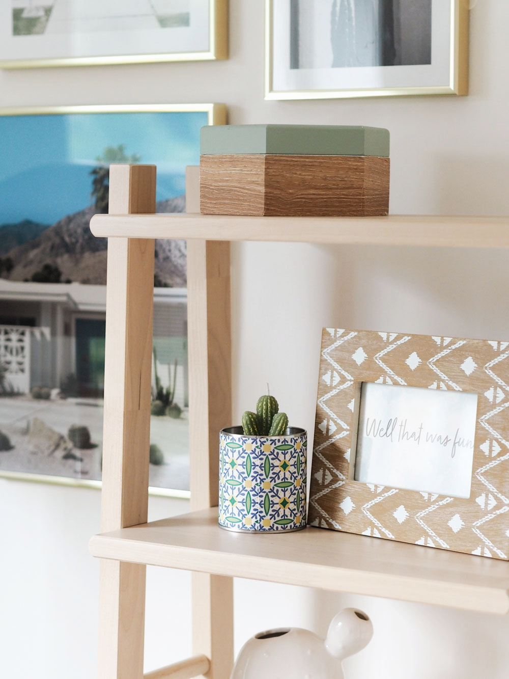 My Californian-inspired home office makeover reveal is finally live, sharing everything I used to decorate a colourful and fun workspace.
