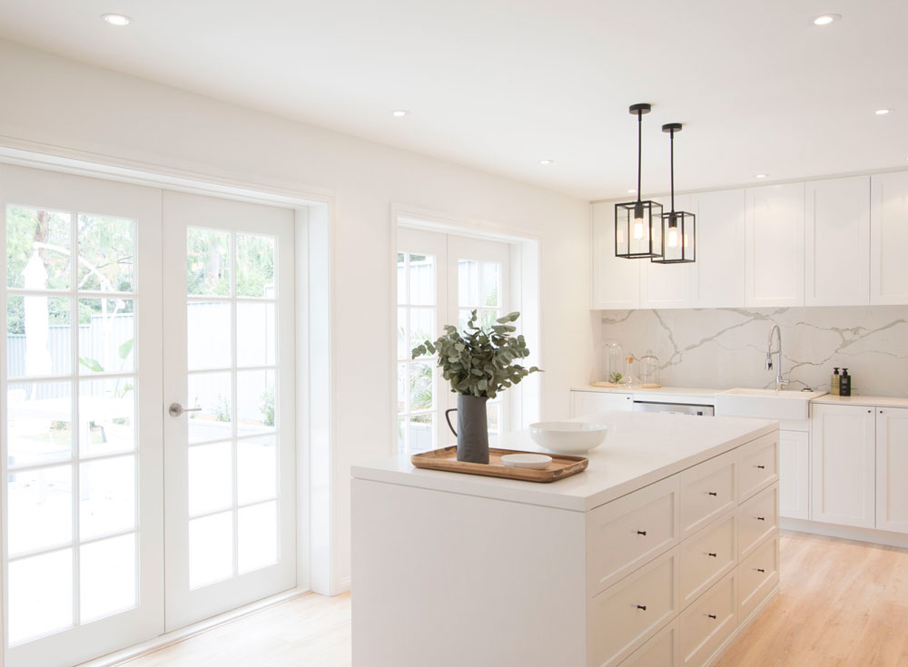 My future kitchen renovation ideas are over on the blog, including white shaker cabinets, quartz island, pendant lighting and bi-fold doors into the garden.